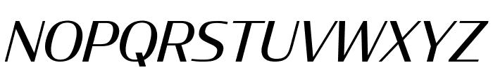 CondorWide Italic Font UPPERCASE