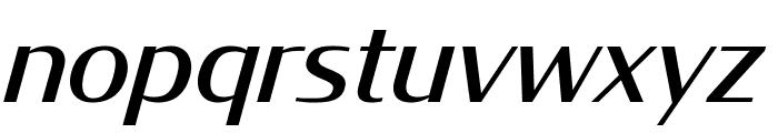 CondorWide Italic Font LOWERCASE