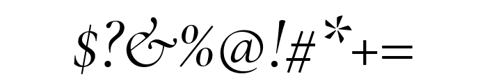 Cormorant Garamond Italic Font OTHER CHARS