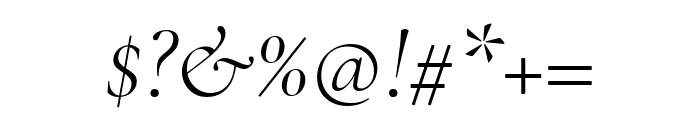 Cormorant Garamond Light Italic Font OTHER CHARS