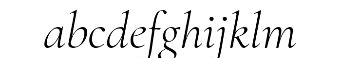 Cormorant Garamond Light Italic Font LOWERCASE