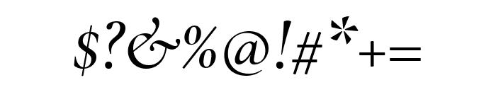 Cormorant Garamond Medium Italic Font OTHER CHARS