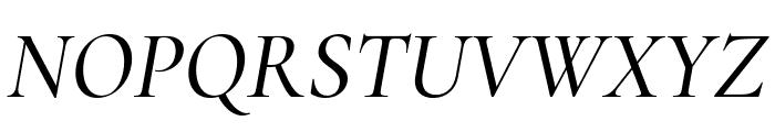 Cormorant Garamond Medium Italic Font UPPERCASE