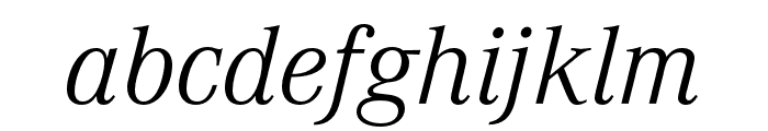 Corporate A Light Italic Font LOWERCASE