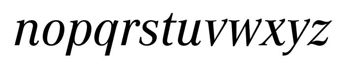 Corporate A Medium Italic Font LOWERCASE