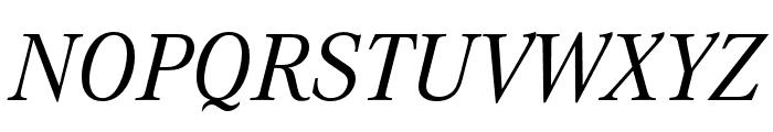 Corporate A Regular Italic Font UPPERCASE
