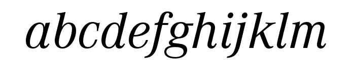 Corporate A Regular Italic Font LOWERCASE