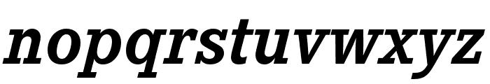 Corporate E Bold Italic Font LOWERCASE