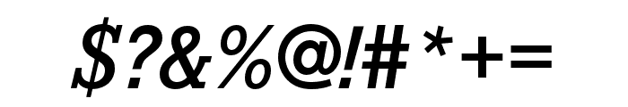 Corporate E Demi Italic Font OTHER CHARS