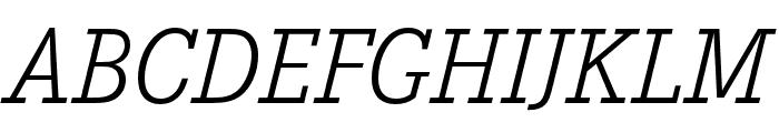 Corporate E Light Italic Font UPPERCASE