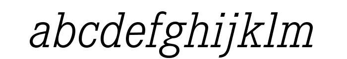 Corporate E Light Italic Font LOWERCASE