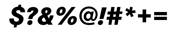 Corporate S ExtraBold Italic Font OTHER CHARS