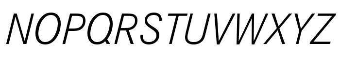 Corporate S Light Italic Font UPPERCASE