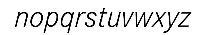Corporate S Light Italic Font LOWERCASE