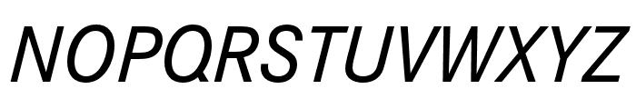 Corporate S Medium Italic Font UPPERCASE