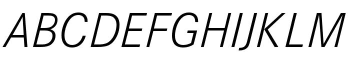 Corporate S Pro Light Italic Font UPPERCASE