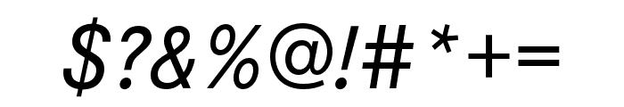 Corporate S Pro Medium Italic Font OTHER CHARS