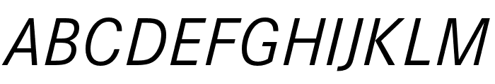 Corporate S Regular Italic Font UPPERCASE