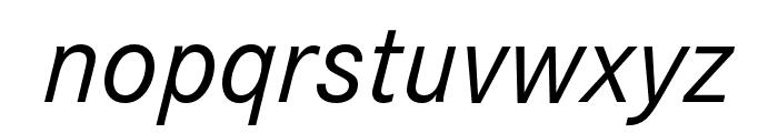 Corporate S Regular Italic Font LOWERCASE
