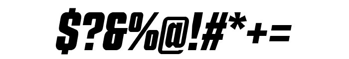 Countach Bold Italic Font OTHER CHARS