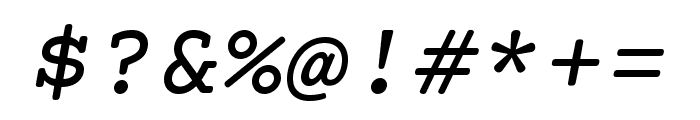 Courier Prime Italic Font OTHER CHARS
