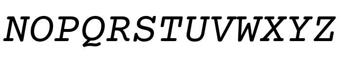 Courier Prime Italic Font UPPERCASE