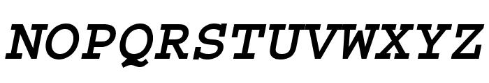 Courier Std Bold Oblique Font UPPERCASE