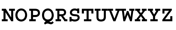 Courier Std Bold Font UPPERCASE