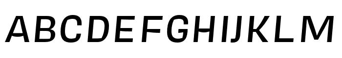 Covik Sans Mono Medium Italic Font UPPERCASE