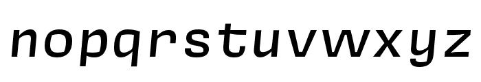 Covik Sans Mono Medium Italic Font LOWERCASE