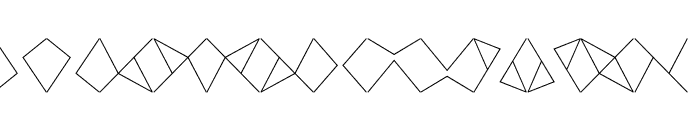 Crackly Lines 20 Font UPPERCASE
