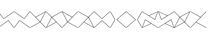 Crackly Lines 60 Font LOWERCASE