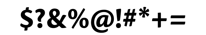 Cronos Pro Bold Caption Font OTHER CHARS