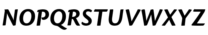 Cronos Pro Bold Display Italic Font UPPERCASE
