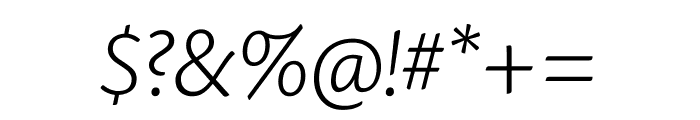Cronos Pro Light Subhead Italic Font OTHER CHARS