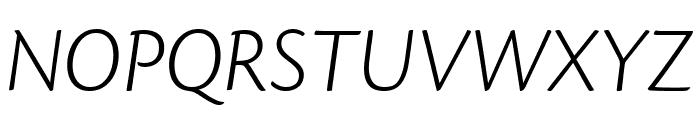 Cronos Pro Light Subhead Italic Font UPPERCASE
