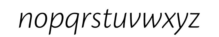 Cronos Pro Light Subhead Italic Font LOWERCASE