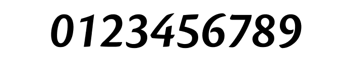 Cronos Pro Semibold Display Italic Font OTHER CHARS