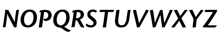 Cronos Pro Semibold Display Italic Font UPPERCASE