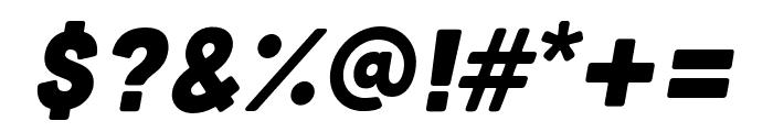 Cubano Italic Font OTHER CHARS