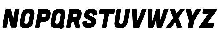 Cubano Sharp Italic Font LOWERCASE