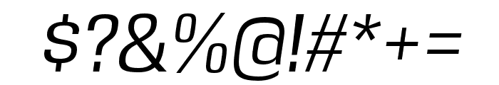 DDT Book Italic Font OTHER CHARS