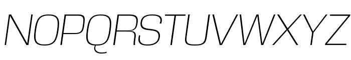 DDT ExtraLight Italic Font UPPERCASE