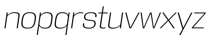 DDT ExtraLight Italic Font LOWERCASE