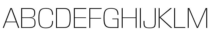 DDT ExtraLight Font UPPERCASE