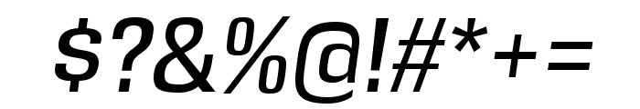 DDT Italic Font OTHER CHARS