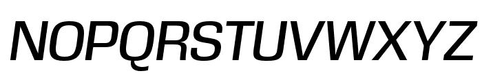 DDT Italic Font UPPERCASE