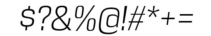 DDT Light Italic Font OTHER CHARS