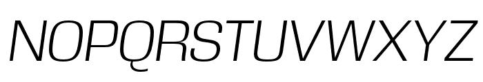 DDT Light Italic Font UPPERCASE