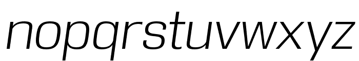 DDT Light Italic Font LOWERCASE